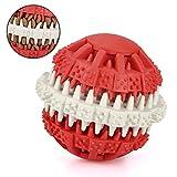Mixmart Palle Gomma Naturale Giocattolo Masticazione Dentizione Cura Dentale Cane Cuccioli Odore Profumo Menta(Rosso)