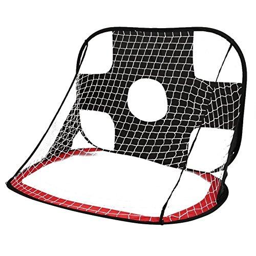 LouisaYork Fußball Ziel Net, tragbares Fußball Tor, Training Target Net Pop up Fußballtor für Innen und Außen Training Praxis Spiel
