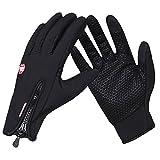 DUSISHIDSN Fahrradhandschuhe Touchscreen Handschuhe Winddicht Wasserdicht für Winter Radfahren und Outdoor Sports Herren und Damen