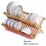WYY Regal HPLL Lagerregale Nan Bambus Aufbewahrungsbox Ablauf Rack Küche Montiert Geschirr mit Deckel Setzen Abtropfbrett (Farbe : 2#)