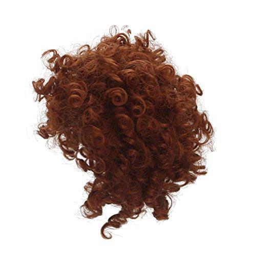 MagiDeal Puppen Make up Zubehör für 18 Zoll Puppe - DIY Wellenförmige / Lockiges / Glattes Perücke Haarteil - F (Puppe Halloween Make-up)