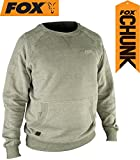 Fox Chunk Crew Sweatshirt Olive Marl Angelpullover, Pullover für Angler, Angelpulli, Angelbekleidung, Karpfenangeln, Größe:XXXL