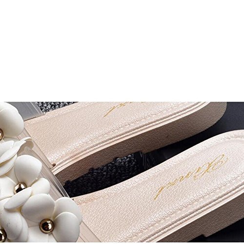 Estate Sandali Pantofole per signora di modo Pantofole da spiaggia Pantofole piatte antiscivolo Sandali da interno e da esterno (18-40 anni) Colore / formato facoltativo 1001