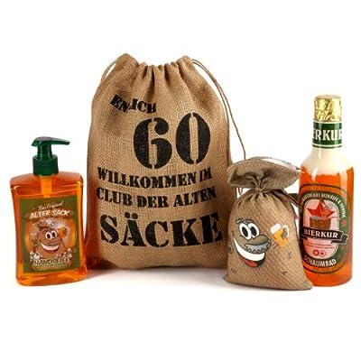 """Lustige Apotheke Geburtstagsgeschenk Set """"Bier Spa"""" zum 60. Geburtstag (4-teilig)"""