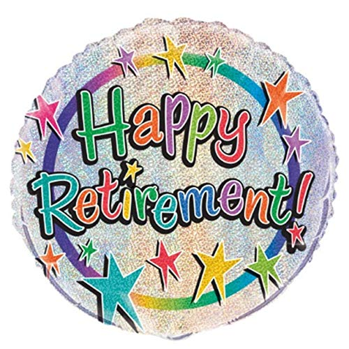 Unique Party Supplies 45,7 cm Folie Prism Happy Retirement Ballon