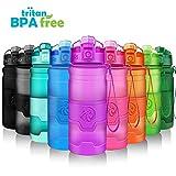 ZORRI Botella de Agua Deportiva - 400ml/500ml/700ml/1000ml - sin BPA & a Prueba de Fugas, Reutilizable de plastico tritan, Agua Botellas Ideal con Filtro para niños Adulto,1-Click Apertura