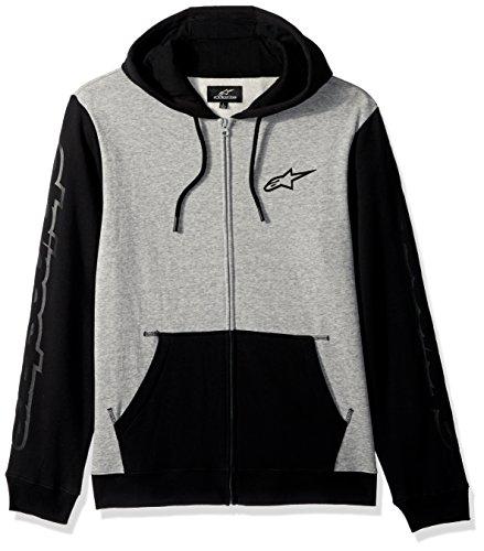 Alpinestars Herren Machine Motorsports Full Zip Hoodie Modern Fit Fleece, Black, S Lined Hooded Full Zip Sweatshirt