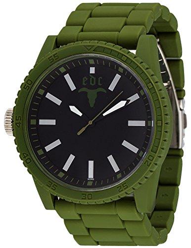 edc by Esprit  Military Star - Reloj de cuarzo para hombre, con correa de plástico, color verde