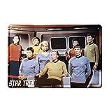 Star Trek - USS Enterprise Crew Bleschilder Retro - Blechschild Vintage Film - 30x20 - Lizenziertes Originaldesign - LOGOSHIRT