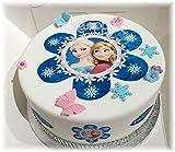 essbar blau Frozen Flower Anna Elsa ungeschliffen Tortenaufleger + Cupcake Topper