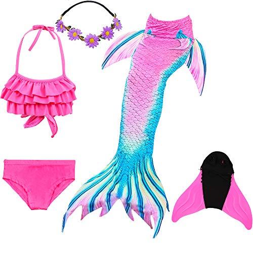 COZY HUT 2019 Mädchen Bikini Badeanzüge Schönere Meerjungfrauenschwanz Zum Schwimmen mit Meerjungfrau Flosse Schwimmen Kostüm (Meerjungfrau Kostüm Bh)