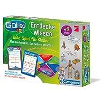 Clementoni-69808-Galileo-Kids-Wissensquiz Clementoni 69808 Galileo Kids – Wissens-Quiz für Kinder, Frage-Antwort-Spiel ab 6 Jahren, lehrreiches Kartenspiel, Allgemeinwissen & Spaß für die ganze Familie -