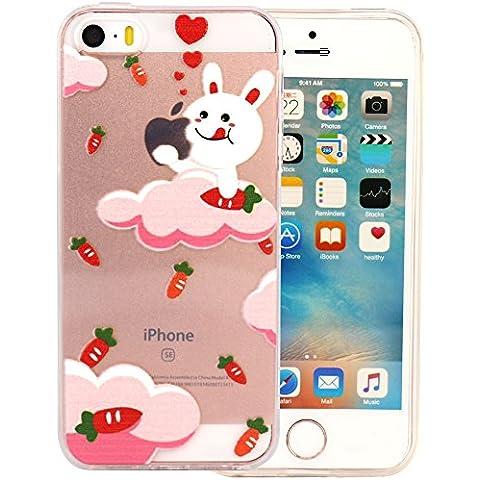 JIAXIUFEN TPU Gel Silicone Protettivo Skin Custodia Protettiva Shell Case Cover Per Apple iPhone SE - Yummy Bunny - Yummy Bunny