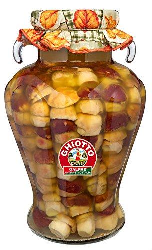 Galfrè Antipasti d'Italia - Ganze Steinpilze in Olivenöl - Glas- Kg. 4 - Italienisch Artisan Produkt - Salsa Canning