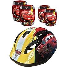 STAMP - DISNEY - CARS - K892507 - Vélo et Véhicule pour Enfant - Set: Casque + Coudières + Genouillères - Cars