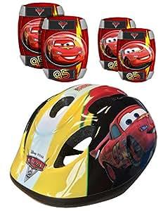 Disney K892507 - Cars, Casco e ginocchiere per bambini