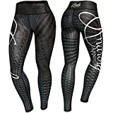 Anarchy Apparel Leggings Raven, Compression Fitness Cross Fit Running Gym Hosen