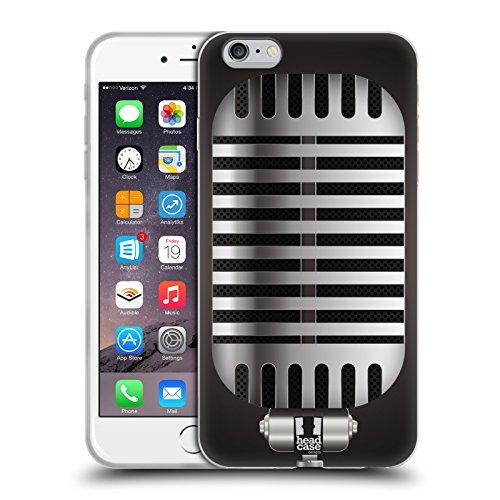 Head Case Designs Grigio Classico Microfono Vintage Cover Morbida In Gel Per Apple iPhone 7 / iPhone 8 Grigio Classico
