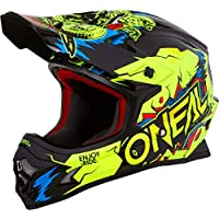 O'Neal 3Series Villain Motocross Enduro Helm Trail Quad Cross Offroad FMX Freestyle ABS, 0623-VAdult, Farbe Neon Gelb, Größe L