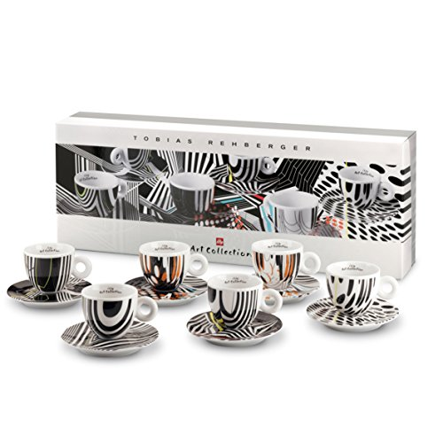 Illy Art Collection Tobias Rehberger 6Stück Tassen Cappuccino