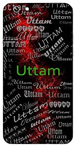Uttam (Best) Name & Sign Printed All over customize & Personalized!! Protective back cover for your Smart Phone : Apple iPhone 7
