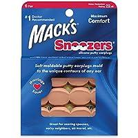 Macks Snoozers Silicone Putty Earplugs, 6-Pair (Pack of 2) preisvergleich bei billige-tabletten.eu
