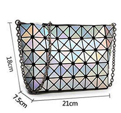Dame Persönlichkeit Laser Falten Geometrische Tasche Umhängetasche Blue