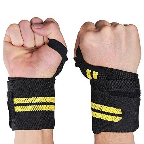 LOMATEE Bandage Handgelenk 2er Set für Damen und Herren für Fitness Sport Kraftsport Training Bodybuilding -zum Schutz / Stabilität und Entlastung der Handgelenke