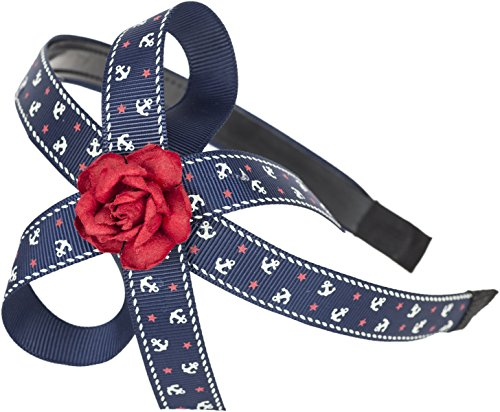 Sailor ANKER Anchor WILLA Red Rose BOW Haarreif / Hairband Rockabilly