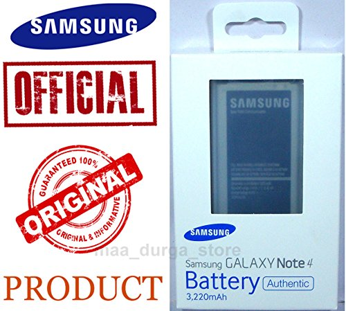 SAMSUNG ORIGINAL BATTERY EB-BN910BBNGIN (NFC-ENABLED) FOR GALAXY NOTE 4 SM-N910  available at amazon for Rs.1615