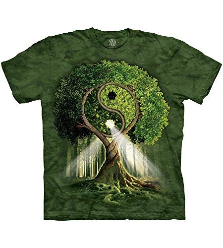 Yin Yang Grün T-shirt (The Mountain Herren T-Shirt Yin Yang Tree - Grün - Klein)