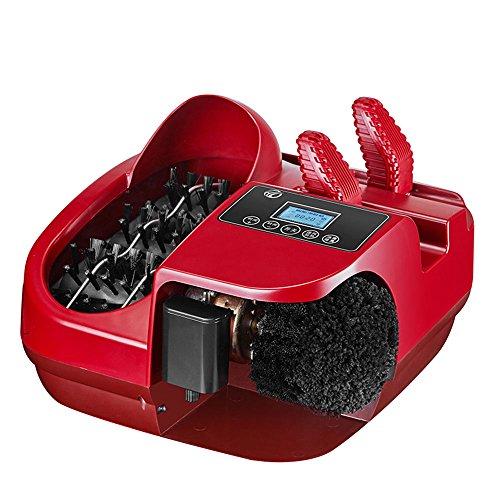 LJHA Sohlenreinigungsmaschine Haushalt automatische Fußbürste Schuhmaschine Bürsten Sie die Türmaschine an der Tür Sohlenreiniger rot 410 * 350 * 270mm Einweg-Schuhüberzieher