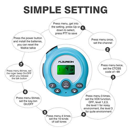 Zoom IMG-2 floureon ricetrasmittente walkie talkies bambini