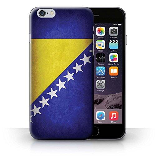 Coque en plastique pour iPhone 6+/Plus 5.5 Collection Drapeau - Suisse Bosnie-Herzégovine