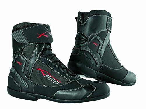 A-Pro, stivali invernali in pelle, impermeabili e traspiranti per motocicletta e motociclo, colore nero, 39