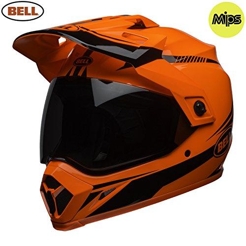 Bell Cascos MX-9Adventure MIPS, linterna, color naranja/negro, talla