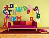 Wandtattoo No.KS3 Buntes Alphabet ABC Alphabet Zeichen Buchstaben Schule