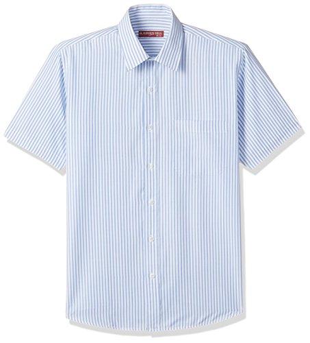 Auburn Hill Men's Formal Shirt (8907002781574_254725731_39_Blue)