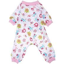 Pijama de algodón para perros, de Everpert, con estampado, cálido, prendas para
