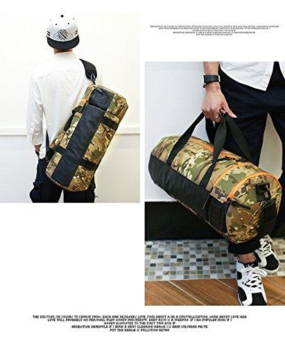 Amoyie Unisex Sporttasche Training Bag Herren und Damen Umhängetasche Duffel Fitness Gym Tasche Reisetasche Handtasche Fußballtasche Fitnesstasche mit Schuhenfach Camouflage