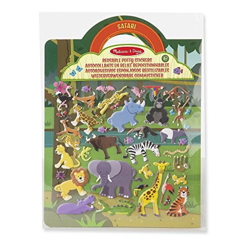 Melissa & Doug Reusable Puffy Stickers-Safari (19106)