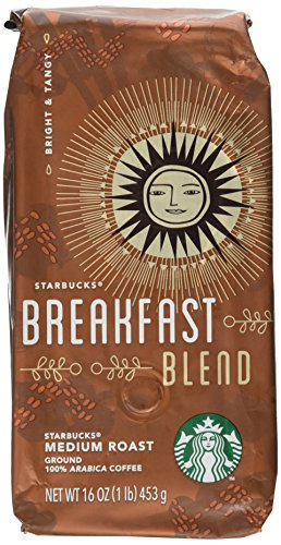 Starbucks Coffee 11018185, Breakfast Blend, Ground, 1 - Bag