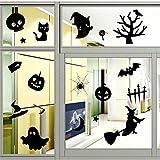 yanqiao Halloween Serie Cartoon Wandtattoo für Wohnzimmer Persönlichkeit Deko Fenster Aufkleber Vinyl Abnehmbare Home Dekorieren & DIY Wand Aufkleber size22.4* 66,3cm schwarz schwarz