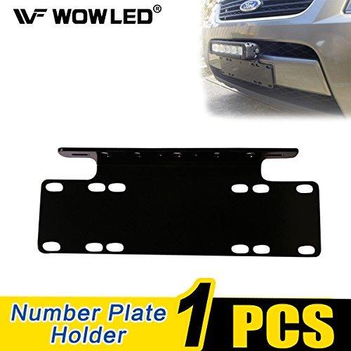 Wowled support de licence support de fixation de plaque d'immatriculation universel pour LED Conduite Barre lumineuse et lampe de travail Camion