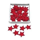 36 St. Filzsterne 3cm, weich, Filz Sterne, Streuartikel, Weihnachten (rot)