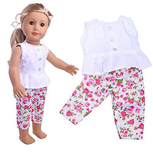 MCYs Kleidung Kleiderschrank Kleidung Kleid für 18 Zoll American Boy Puppe Zubehör Mädchen Spielzeug (18-zoll-american Mädchen Puppe)