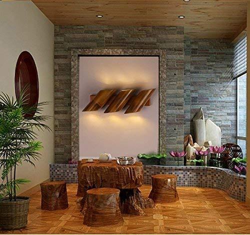 HKIL Moderne Retro Wandlampe aus Bambus, Restaurant Lounge Bar dekorieren Lampe dekorative Lampen...