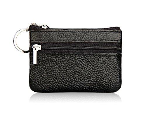 HDWY Leder-Geldbörse mit Karten-Set mit Reißverschluss-Tasche Münze Geldbörse für Geschenke, Stufe 2, Reißverschluss, 10 - Temperatur Stufen