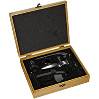 Rabbit Wine Opener - Opens in 3 seconds -Bamboo Box Gift Set by Vino Estate