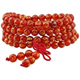 Shanxing 108 Perlen Edelstein Yoga Armband Schmuck Buddha Buddhistische Tibetische Gebetskette Mala Kette...